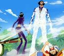 Mugiwara-Piratenbande gegen Kuzan