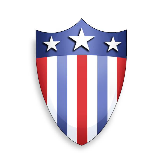Edged Shield Shape Retcon of the original shield