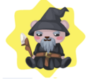 Gray Wizard Plushie