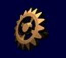 Gold Cogwheel