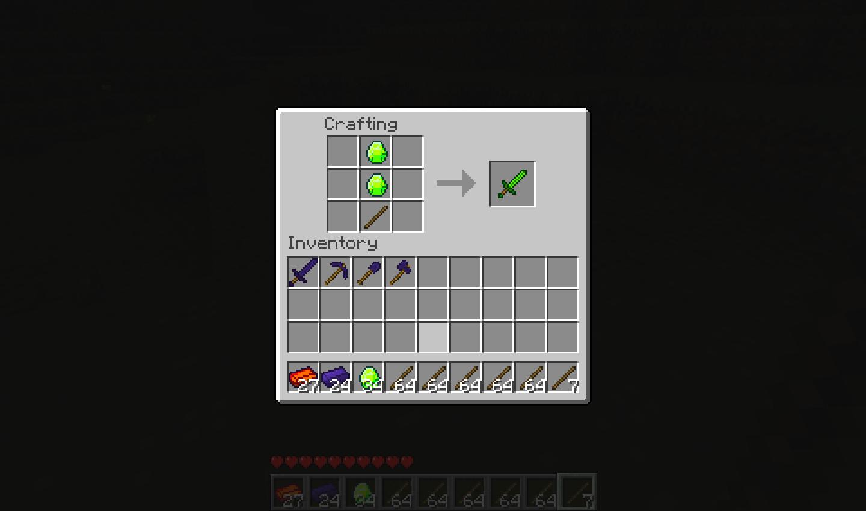 Minecraft Papercraft Emerald Sword Minecraft Papercraft Emerald