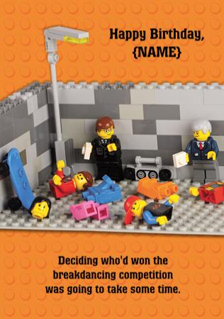 People Lego Birthday Card Funny Congratulations
