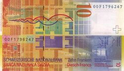 Switzerland 10 CHF rev