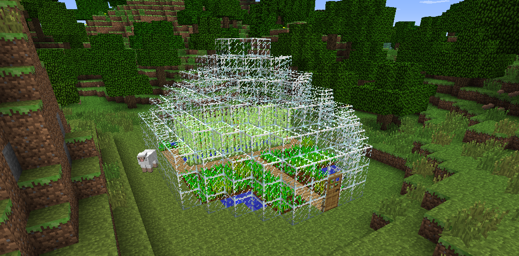 Wiki Minecraft The Farm House Is Grand House Made Out Of Glass Housing Wheat And