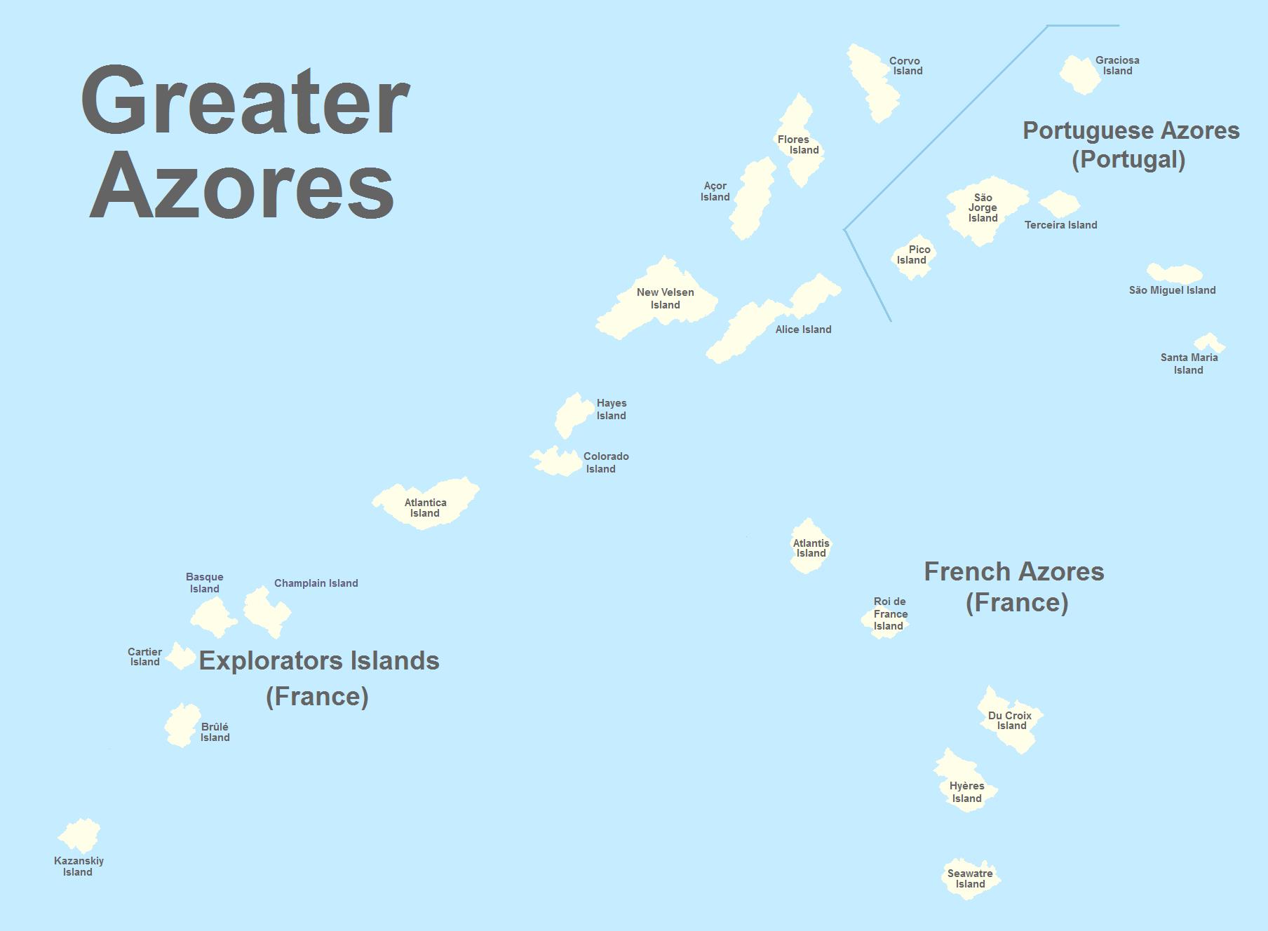 Greater Azores Atlantic Islands Alternative History