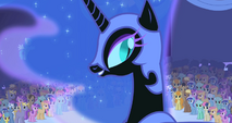 FANMADE Nightmare Moon crowd shot stitched S01E01