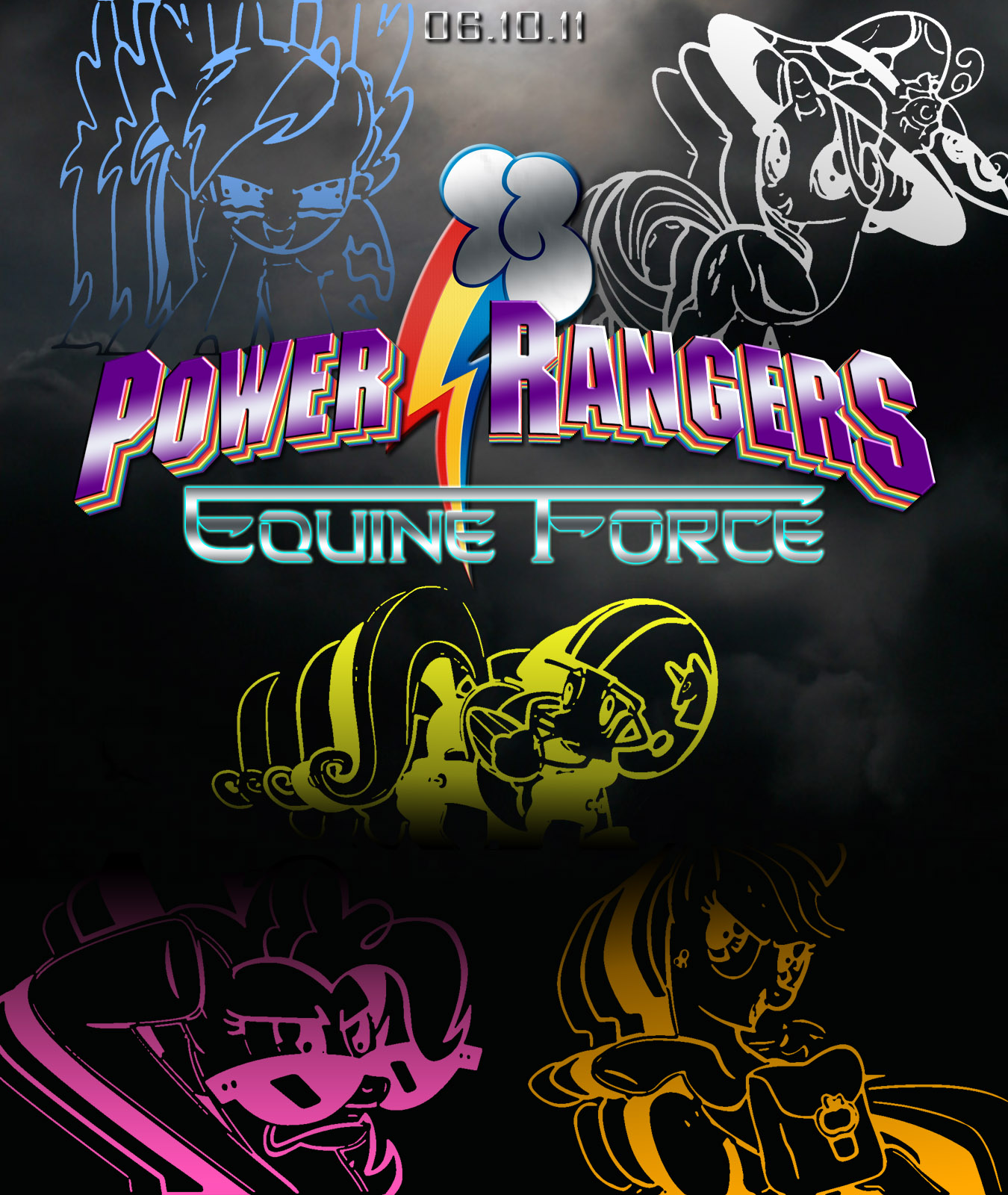 my little ponymighty morphin power rangers at scratchpad