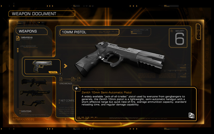 Deus ex 10mm pistol