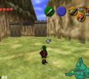 Cucco Round-Up in Kakariko Village in Ocarina of Time