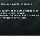 Crimson Abyssite of Acumen