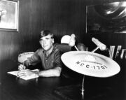 USS Enterprise three foot model in Gene Roddenberry's office