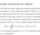 Ecuația transferului de căldură
