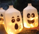 Milk Carton Halloween Lanterns