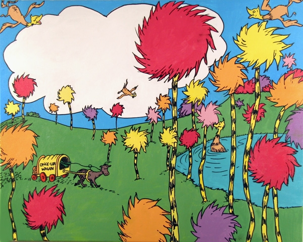 The truffula tree is a species of tree featured in the lorax