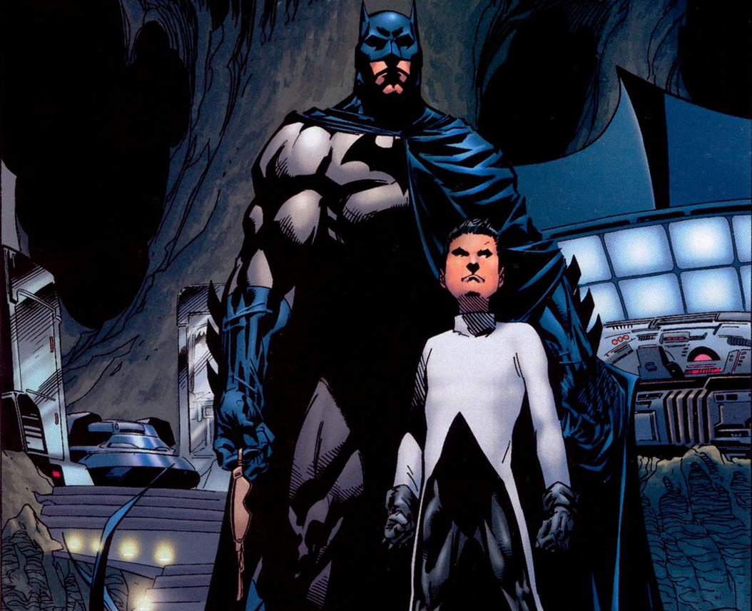 Damian in his assassin costume, welcomed into the Batcave