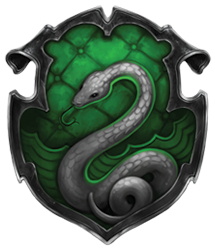 The Slytherin crest (boo, hiss!)