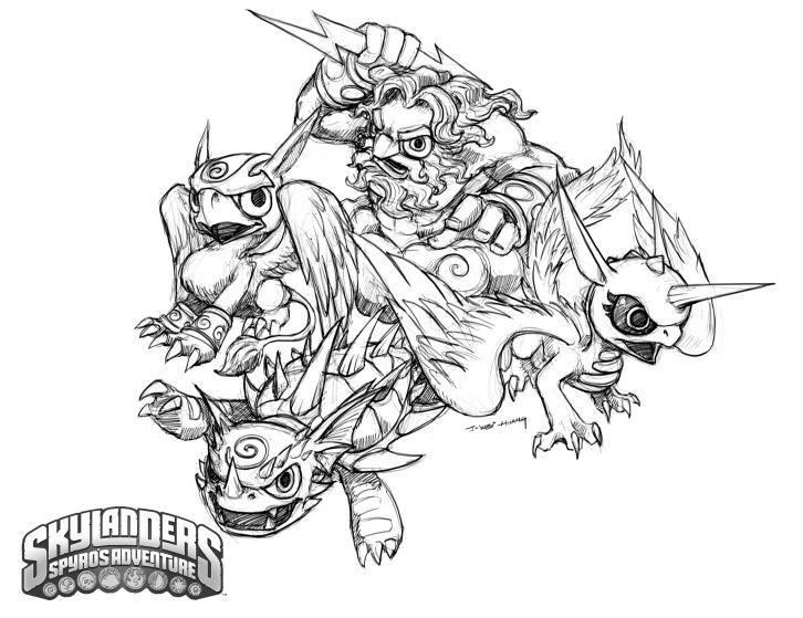 skylander coloring pages ninjini vs scarlet   Air - The Spyro Wiki - Spyro, Sparx, The Legend of Spyro ...