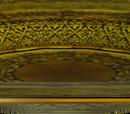 Ciężki złoty talerz