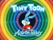 TV tiny toons logo with buster bunny