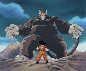 Goku VS Gohan (great ape)