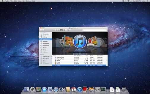 Mac OSX Lion screen