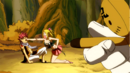 Kain forces Lucy to punch Natsu.png