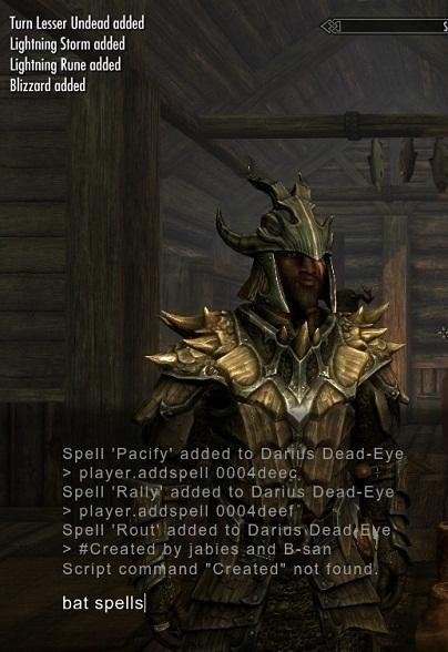 Forum:CC:Console Command Batch Lists (Skyrim) - The Elder Scrolls Wiki