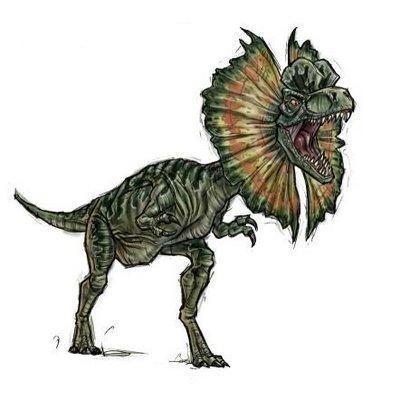 Dilophosaurus dinosaurs 22208728 400 400 - Dinosaure marin carnivore ...