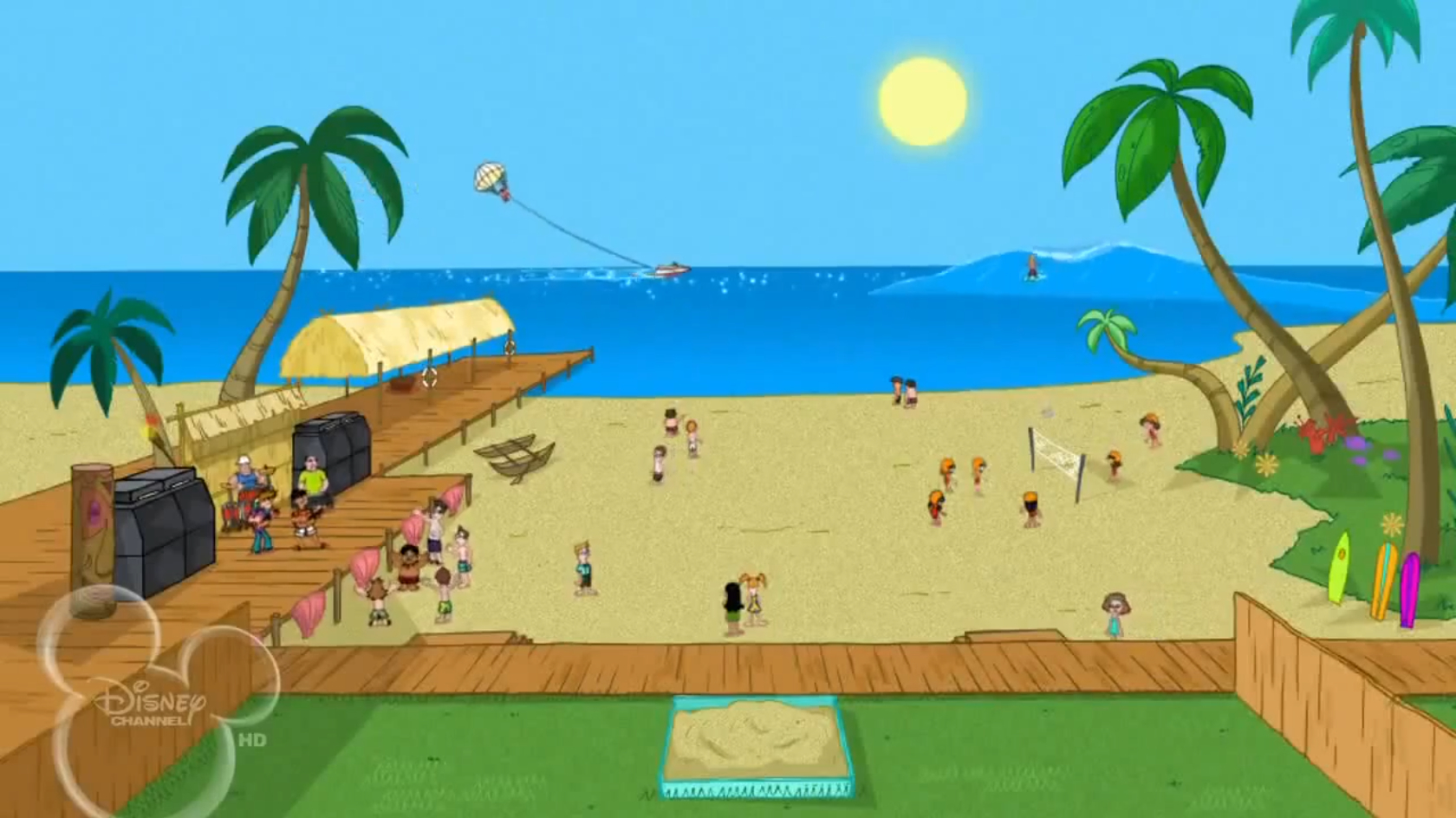 phineas and ferb backyard beach