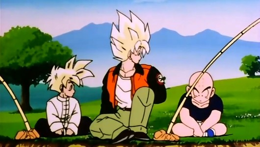 what episode does vegeta meet baby trunks