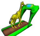 Giraffe on Treadmill