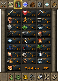 runescape how to say your skill levels in chat