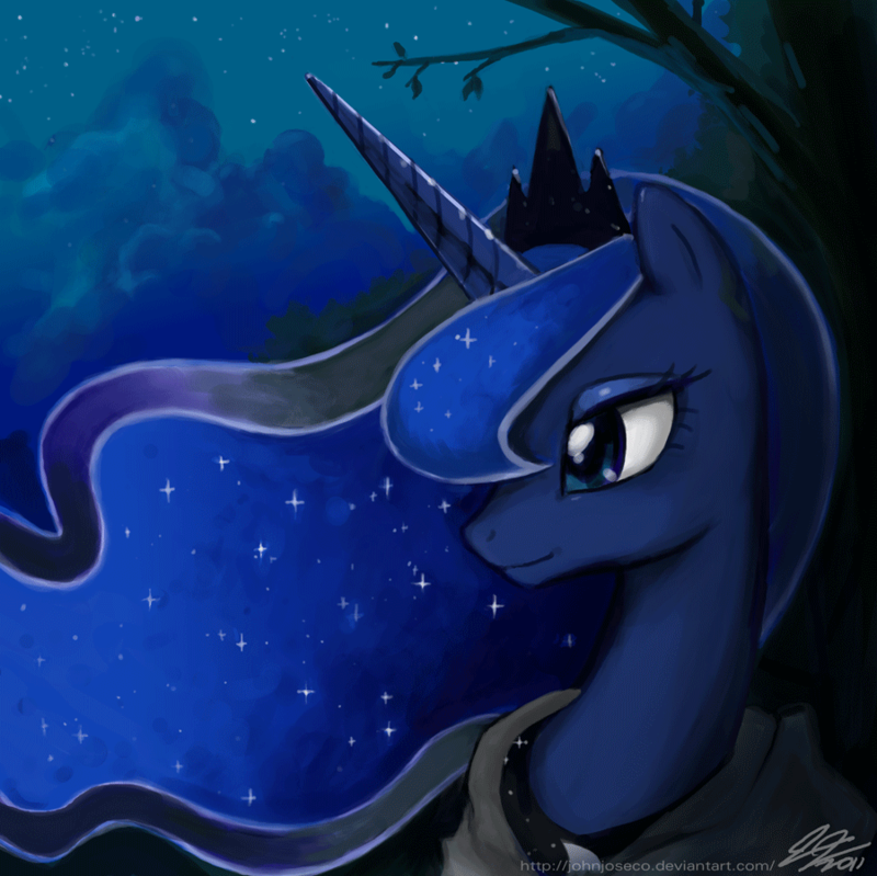 Mlp Pregnant Luna Luna on a stroll by johnjoseco