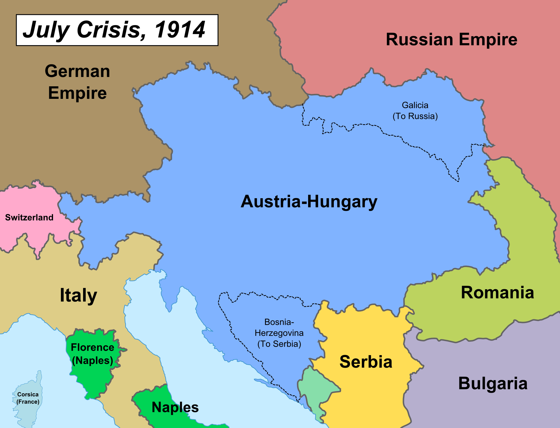an essay on austrai hungarys war against serbia Austria-hungary declares war on serbia, beginning world war i  nations allied  against germany were eventually to include great britain, russia, italy,.