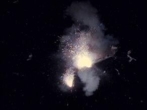 USS Enterprise-D explodes, 2368