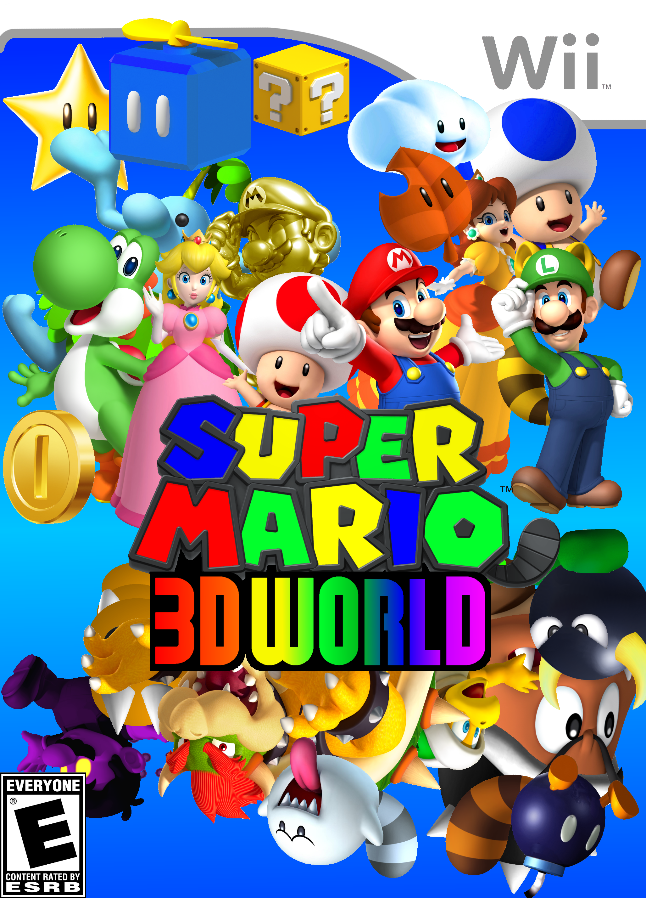 mario 3d world the real boxart