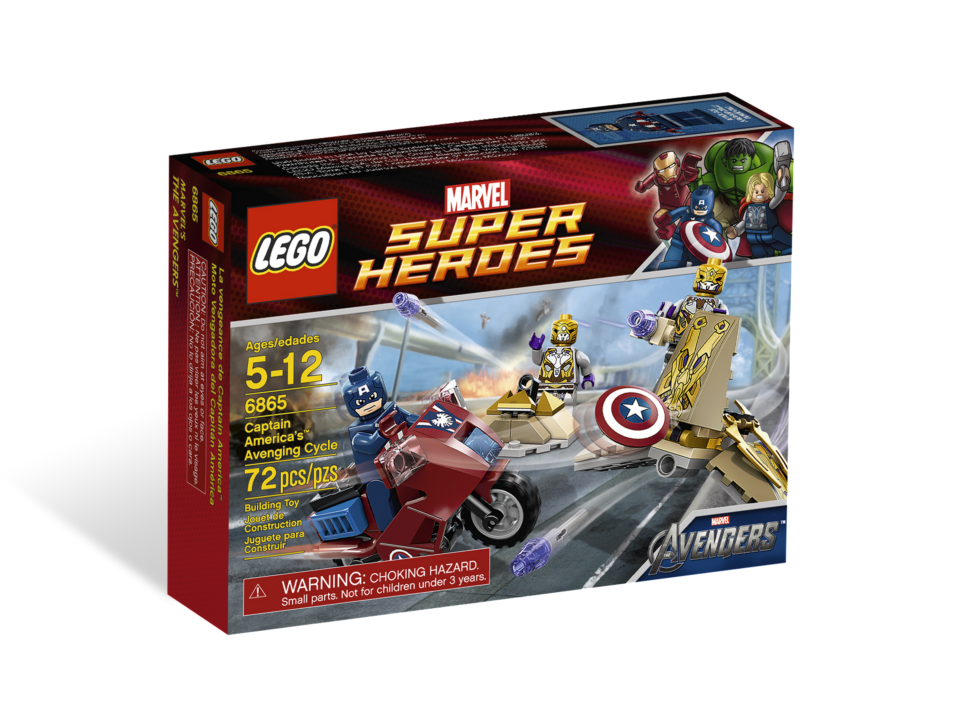 6865 captain america 39 s avenging cycle brickipedia the lego wiki - Lego capitaine america ...