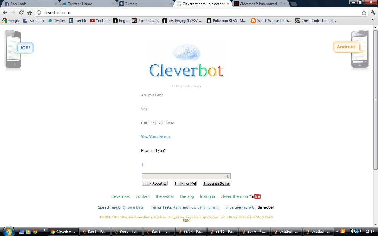 Ben drowned creepypasta cleverbot i killed ben