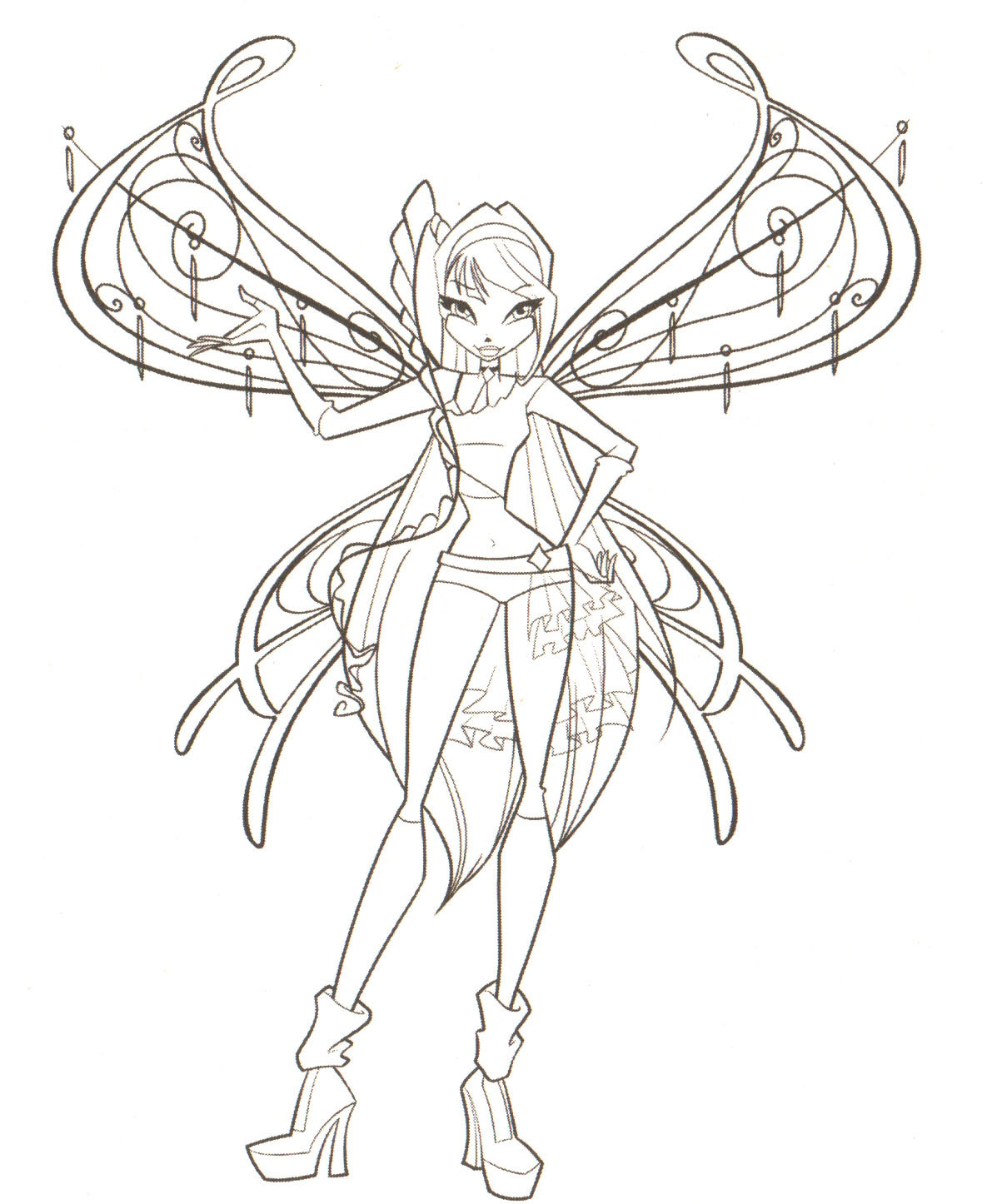 Fairies And Pixies Coloring Pages Filecoloring pages the winx