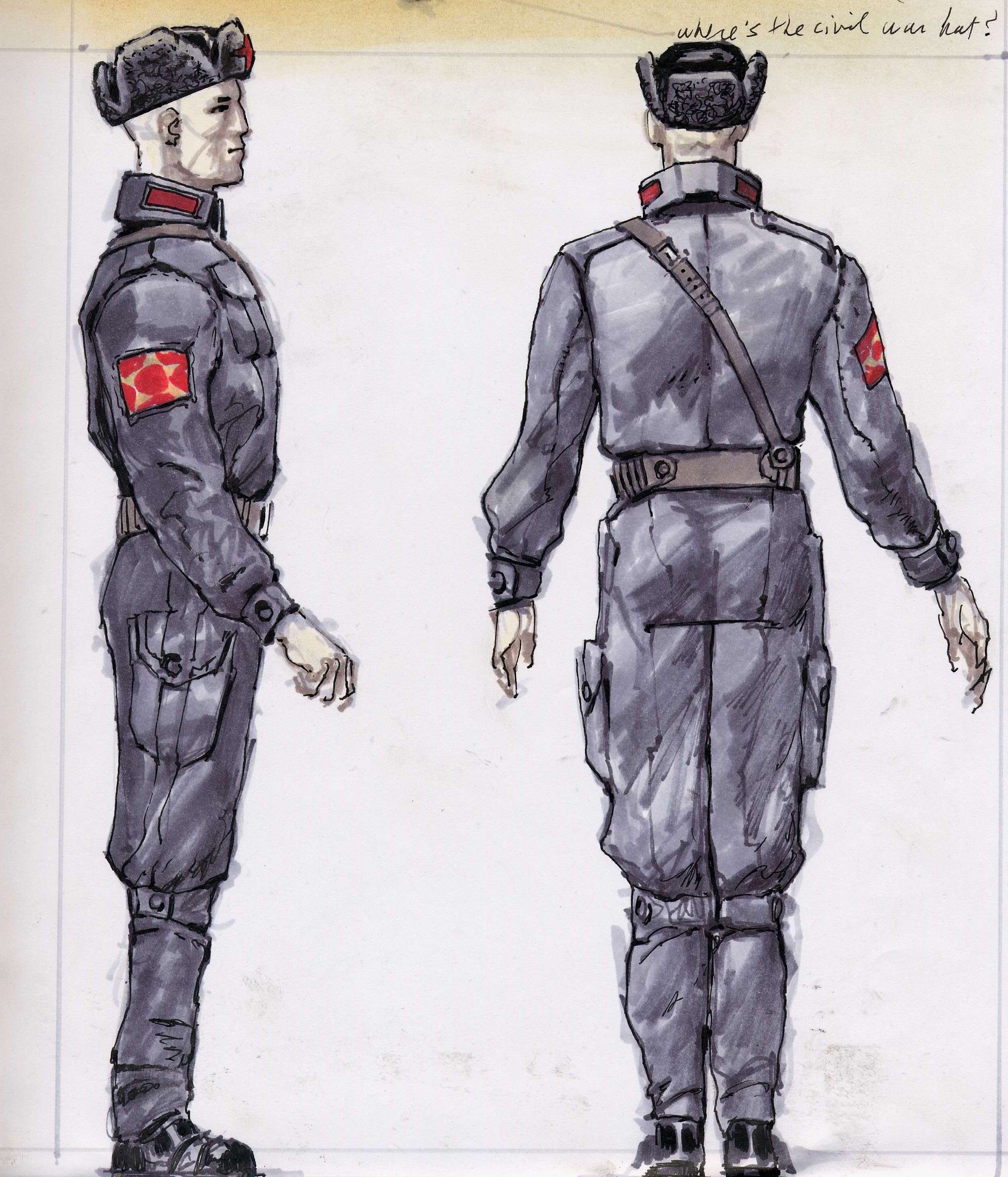 Fallout Chinese Soldier Concept Art