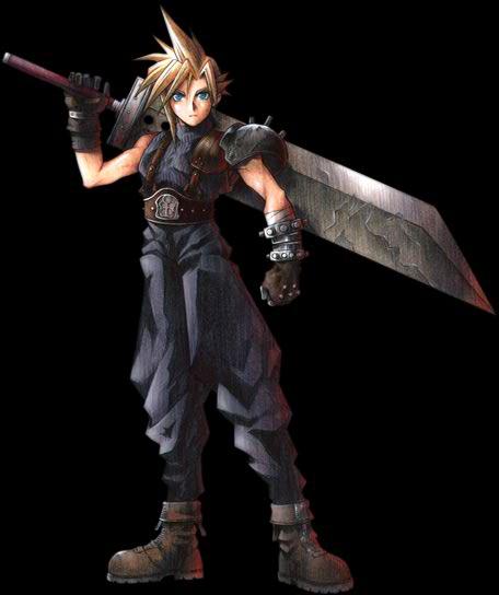 Final Fantasy VII (PS1/PC/PSN) Cloud-FFVIIArt