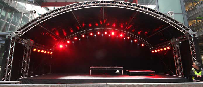 how to build a stage for a band