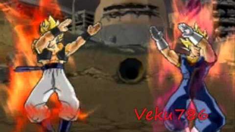 Gogeta and Vegito Fusion Request by MajinHD