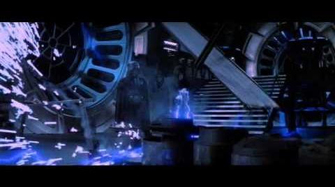 Star Wars VI Darth Vader kills the emperor