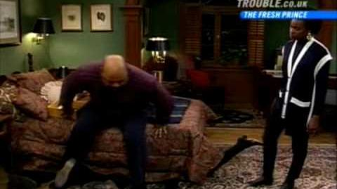 Fresh Prince of Bel-Air - Uncle Phil Sits on a Bed