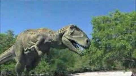 Anomaly Crisis Carnotaurus walks along river