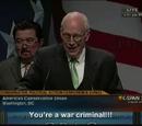 Hitler calls Dick Cheney a war criminal