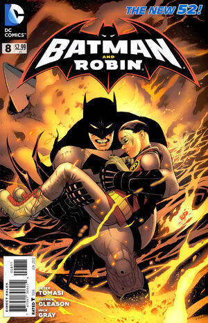 Cover for Batman and Robin #8 (2012)