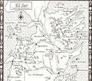 Festín de Cuervos-Mapa El Sur