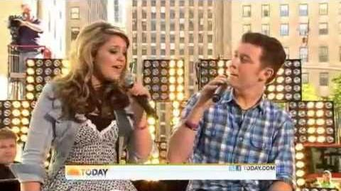 Scotty McCreery and Lauren Alaina - I Told You So - Today Show